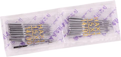 Hirday Original Sewing Machine Needle 4 Packs, 40 Needles, HA x 18 No. Works with All Automatic Sewing Machines (USHA/Singer/Brother/Rajesh)