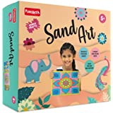 Funskool Handycrafts Handycrafts - Sand Art , Make 6 Different Paintings with Sand , 5 Years + ,Art and Craft Kit