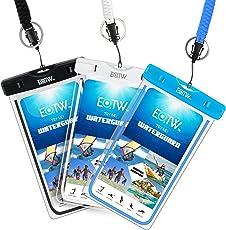 """EOTW 3 Stück Wasserdichte Handyhülle, Wasserdichte Handytasche für iPhone Samsung Huawei Smartphones bis 6"""", Wasserdichte Beutel für Outdoor Strand"""