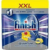 Finish 5900627075977 Cytrynowe Kapsułki do Zmywarki Quantum Max, 45 Sztuk, Niebieski