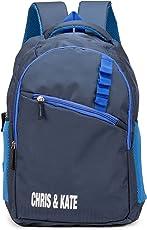 Chris & Kate Polyester 28 Ltr Navy Blue School Backpack