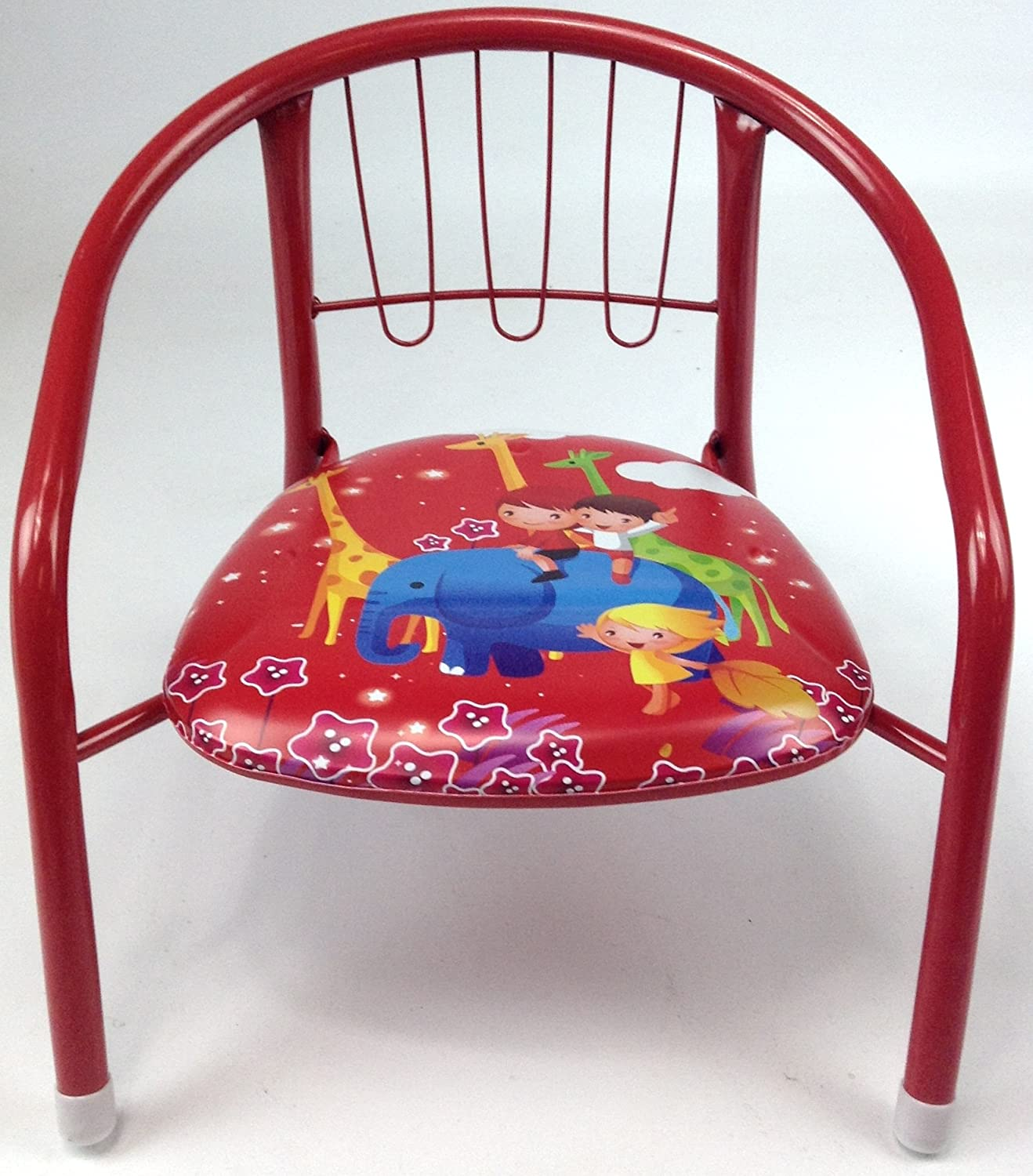 Childrens Squeaky Chair Metal Frame Various Colours Designs Sturdy
