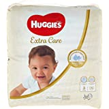 Huggies Extra Care Diapers Size 3, Jumbo Pack, 4-9 kg 76 Diapers