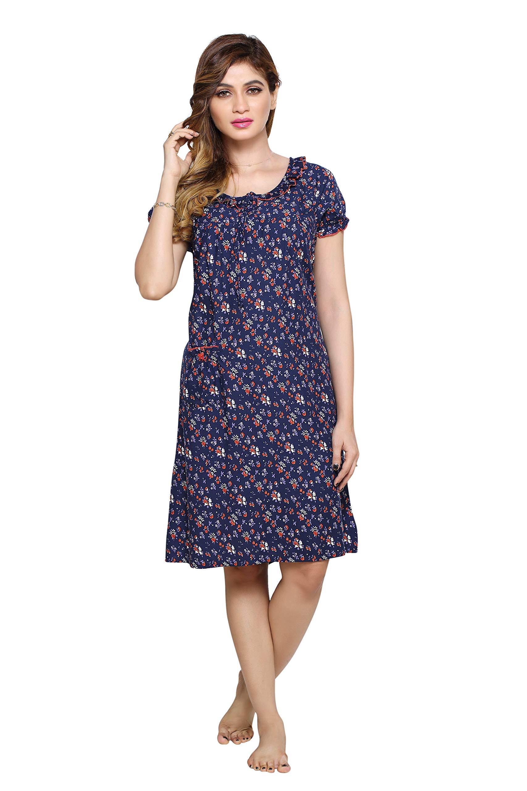 8d1d390f153 PDPM Women s Short Rayon Nighty Nightwear Night Dress Sleepwear Gown ...