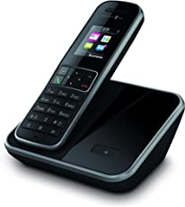 Telekom Sinus 406 Schnurlostelefon mit Grafikdisplay (Sonderfarbe: schwarz, 200 Telefonbucheinträge, Farb-Grafikdisplay)