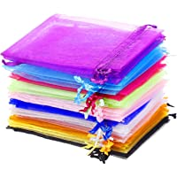 SULOLI 60 Pack Organza Bags Small Gift Bags Wedding Party Favor Bags 12 Colors 9 x 12CM Jewelry Pouches