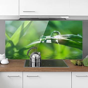 Bilderwelten Spritzschutz Glas - Bamboo Way - Quer 1:2 Wandbild ...