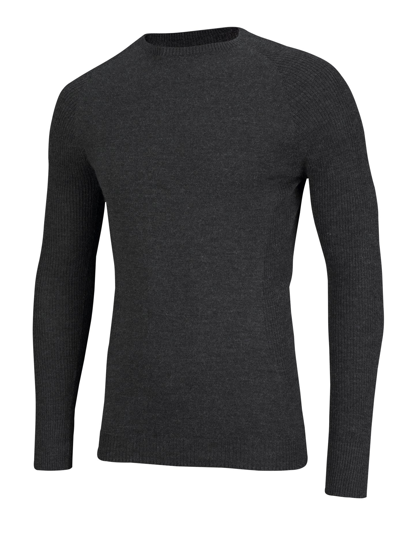 81aCmVHC26L - SUB ZERO Mens Merino Wool Thermal Insulated Totally Seamless Mid Layer Long Sleeve Round Neck Top