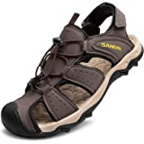 LARGERED Mens Women Wide Fit Sandals Sports Outdoor Hiking Sandals Walking Sandal for Trekking Trail Beach Summer Closed Toe