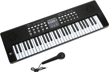 Axman LP5450 Keyboard/Tastiera, Compreso il Microfono e Connettore di Alimentazione, 54 Chiavi, Funzionare con la Batteria Non Inclusa