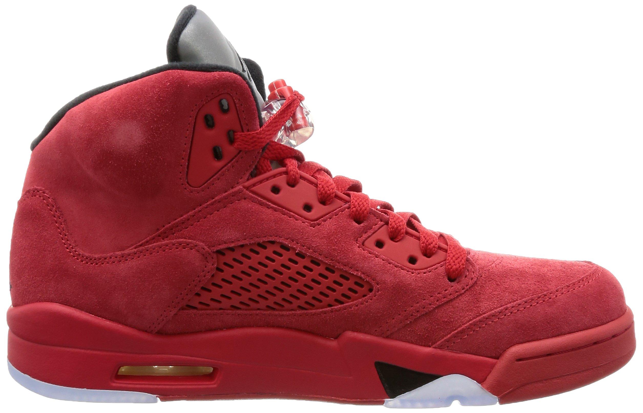 81aDPcweYnL - Nike Air Jordan 5 Retro 'Red Suede' - 136027-602 - Size 9 -