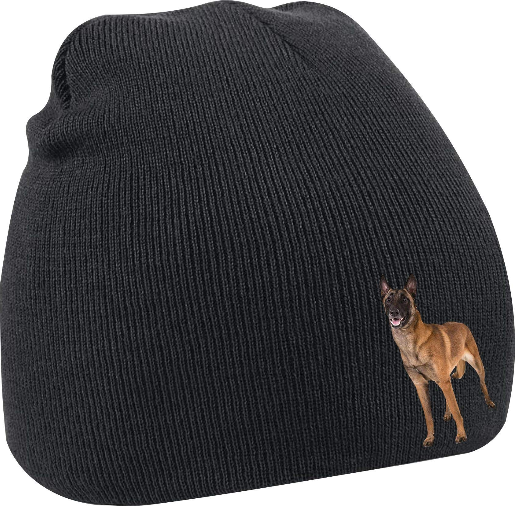 Taurus Clothing Belgian Malinois Dog Personalised Embroidered Beanie Black