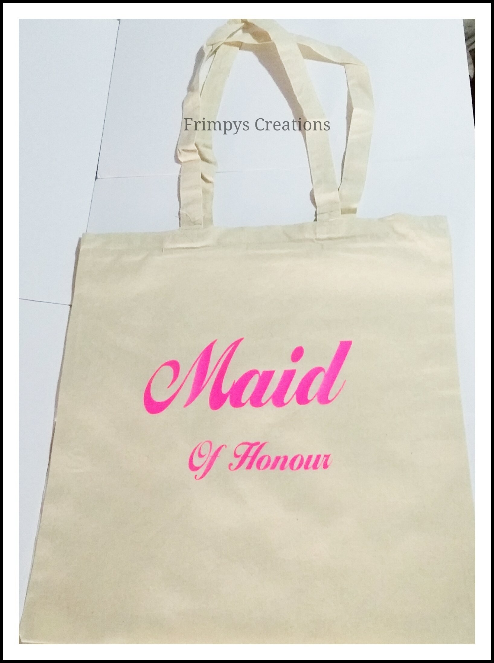 Wedding Favour Tote Bag cotton Printed Gift Present Keep Maid Of Honour Novelty (BAG) - handmade-bags