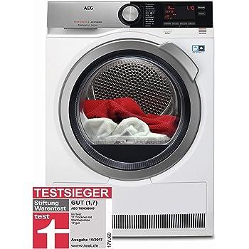AEG T8DE86685 Wärmepumpentrockner / AbsoluteCare – Wolle-Seide-Outdoor trocknen / 8,0 kg / energiesparend / Mengenautomatik / Knitterschutz / Kindersicherung / Schontrommel / Trommelbeleuchtung / Star