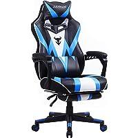Gaming Stuhl für Erwachsene, Ergonomisch Gaming Stuhl, Computer Stuhl mit Massage, Gaming Stuhl mit Fußstütze, Hohe…