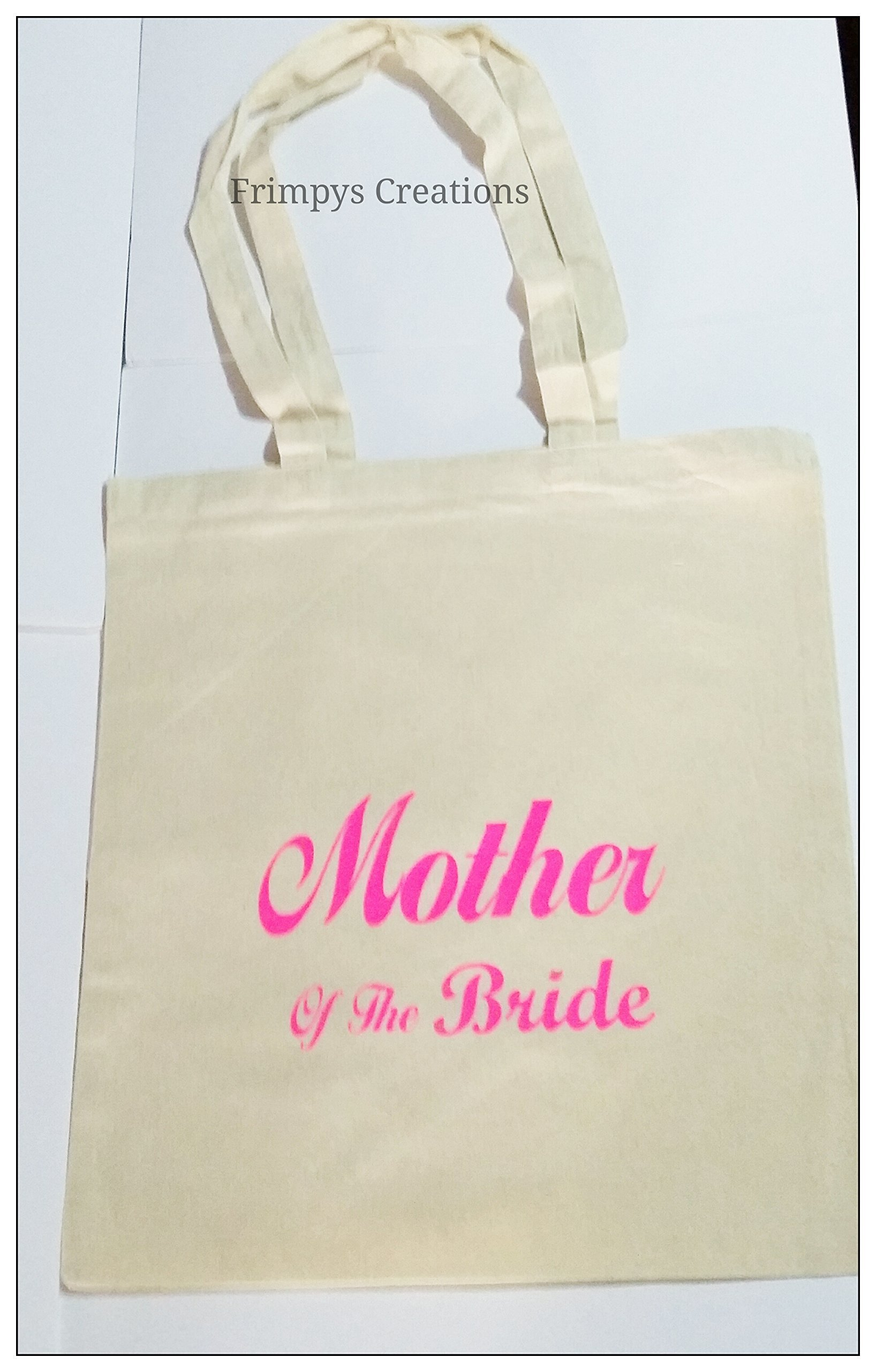 Wedding Favour Tote Bag cotton Printed Gift Present Keep Mother Of The Bride Novelty (BAG) - handmade-bags