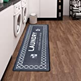 Lot de 2 tapis de cuisine antidérapants avec PVC imperméable - Tapis de cuisine pour cuisine, couloir, salon, chambre à couch