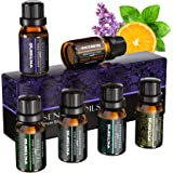 VicTsing Aceites Esenciales para Humidificador,100% Pure Natural,Perfume de Aromaterapia, 6*10ml-Naranja Dulce, Lavanda, Arbo