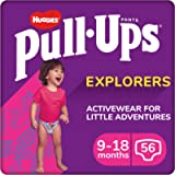 Huggies Nappy Pants Size 4, Size 5, Pull-Ups Explorers Girls, 9-18 Months, 56 Count, Pull Up Nappies, Disney Princess