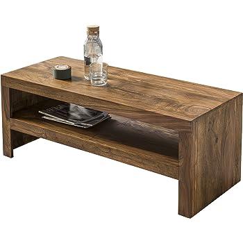 Wohnling Couchtisch Massiv Holz Sheesham 110 Cm Breit Wohnzimmer Tisch  Design Landhaus Stil Beistelltisch Natur Produkt