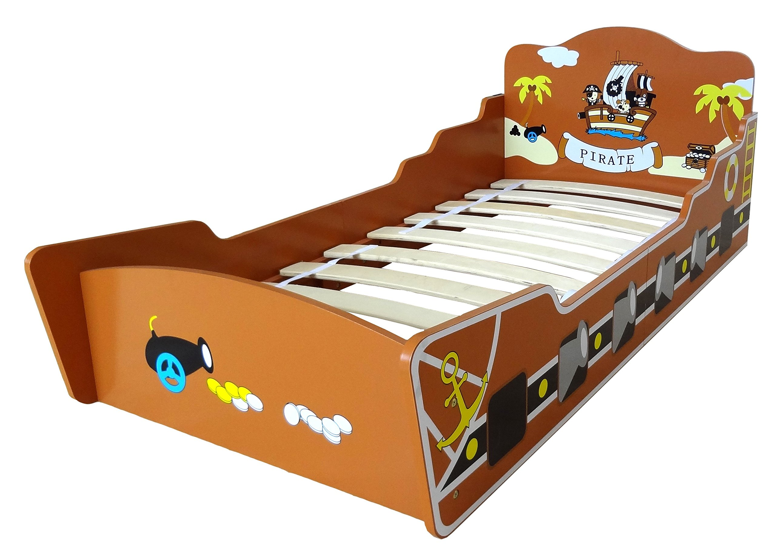 Kiddi Style Children's Pirate Ship/Boat Wooden Junior Bed Kiddi Style Fun pirate themed boat / ship Junior Bed Wood - Fun pirate themed set Easy to assemble 1
