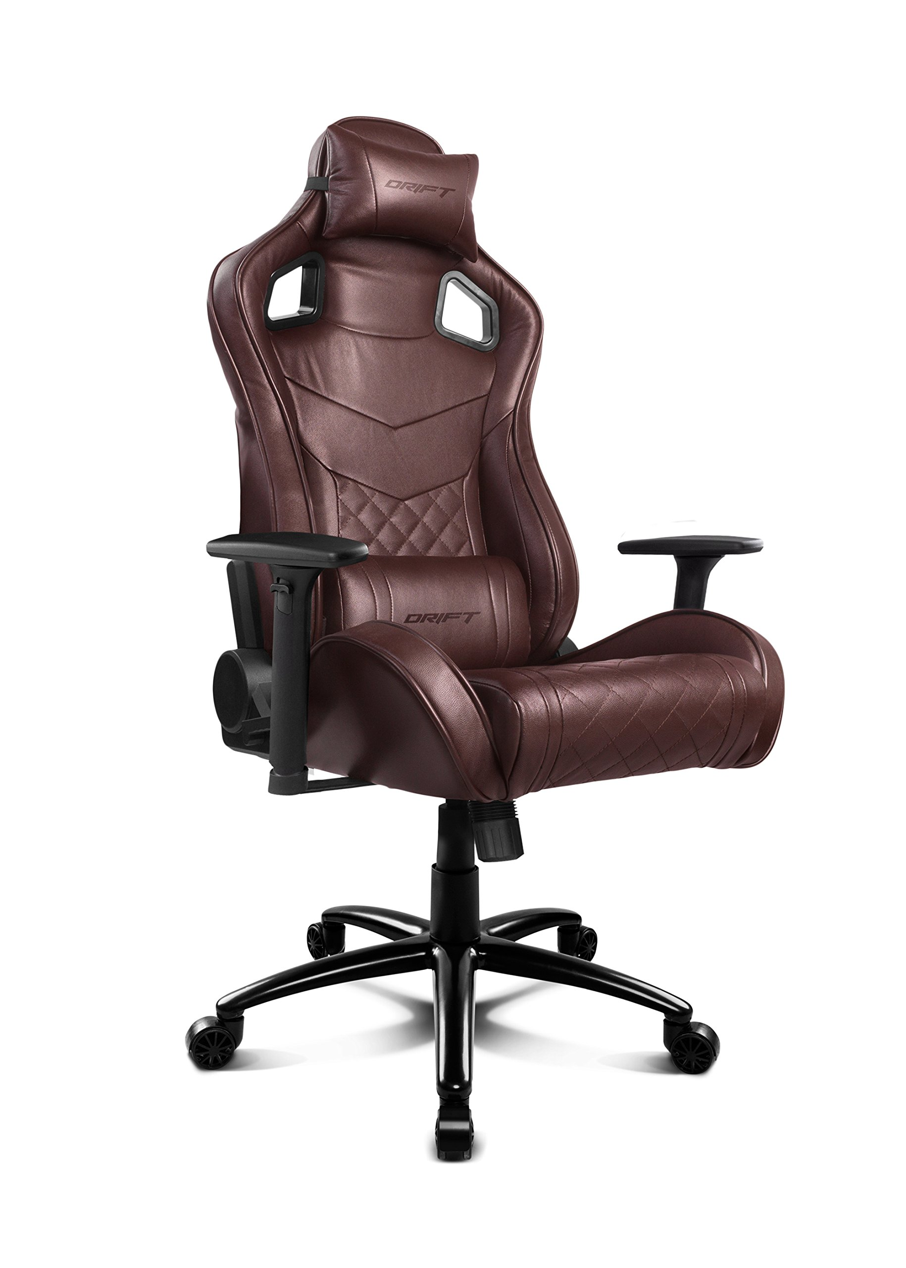 Drift DR450BW – Silla Gaming Profesional, (Poilipiel Alta Calidad, Ergonómica), Color Marrrón