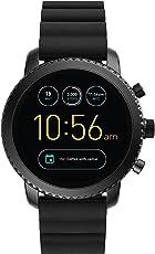 Fossil Q Explorist Herren Smartwatch Gen.3 - Schwarzes Edelstahlgehäuse mit schwarzem Silikonarmband – Kompatibel Android und iOS