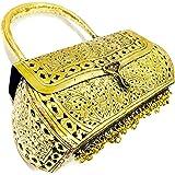 Trend Overseas Girls/Women Party gift Bridal golden Metal bag, brass clutch,Vintage antique ethnic clutch, metal purse,