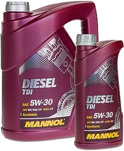 Mannol 5 1 6 Liter Diesel Tdi 5w 30 Pupme DÜse 505 01 MotorÖl Auto