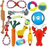 Giocattoli per Cani,13 Pezzi Giochi Cane,Giocattoli da masticare per cuccioli,in corda di cotone,lavabile,per cani di taglia