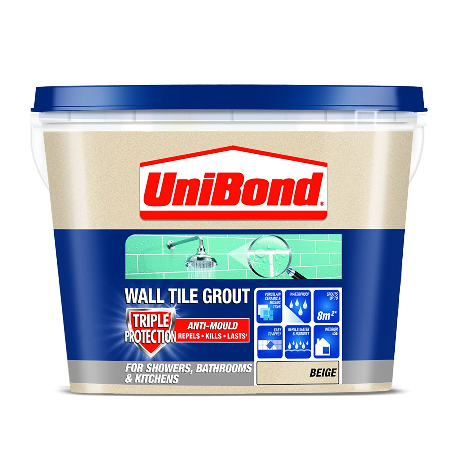 Unibond 1617927 triple protect anti mould wall tile grout cream unibond 1617927 triple protect anti mould wall tile grout cream amazon diy tools dailygadgetfo Images