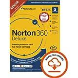 Norton 360 Deluxe 2021, Antivirus per 5 Dispositivi, Licenza di 15 mesi con rinnovo automatico, Secure VPN e Password…