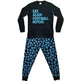 The PyjamaFactory - Pijama largo de algodón para niños, color azul