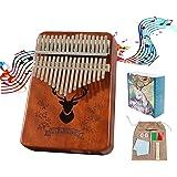Kalimba Piano à Pouce 17 Clés - Haute Qualité Doigt Instrument, Tuning Hammer, Marimba Cadeau Musical Pour Débutants Enfants