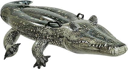 Intex 57551 - Cavalcabile Vero Alligatore, Verde, 170 x 86 cm