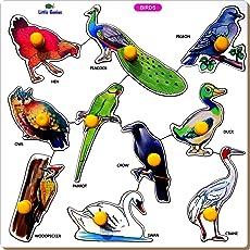Little Genius Crow Birds Tray with Big Knob (Large)