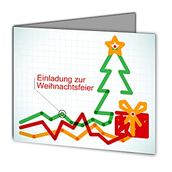 Einladungskarten Zur Weihnachtsfeier Weihnachten Firma Geschäftlich  Business Firmen Geschäftlich Unternehmen Auf Wunsch Mit Eigenem Foto  Doppel Klappkarte ...