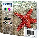 Epson Stella Marina Serie 603 Cartucce Inchiostro, Multipack 4 Colori, Nero, Ciano, Magenta, Giallo, Cartuccia Originale, Inc