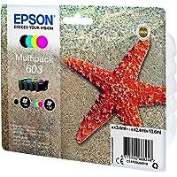 Epson Stella Marina Serie 603 Cartucce Inchiostro, Multipack 4 Colori, Nero, Ciano, Magenta, Giallo, Cartuccia Originale…