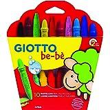 Giotto be-bè 466800 - Estuche 10 súper ceras irrompibles de colores y sacapuntas , color/modelo surtido