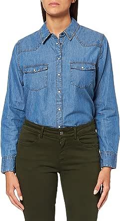 Marchio Amazon - find. Camicia Jeans a Manica Lunga Donna