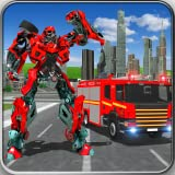 Fire Truck Robot War : Fire Fighter Robot Games - Do 911 Rescue Missions as NY City Fire Engine in Robot Fighting Games. Amazing Robot Transformation in Robot Battle Action Games For Kids. Free Fire Truck Games