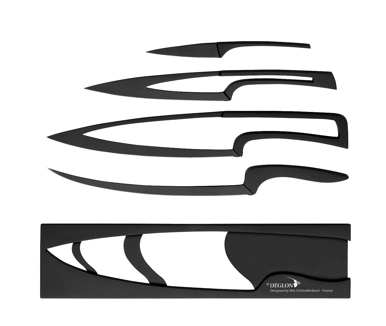 buy deglon 4 piece non stick coating base meeting knives set