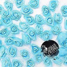 AsianHobbyCraftsFoam Artificial Flower Roses (50 Piece, 3 cm, Peach)