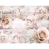Fotobehang Vintage Bloemen - Vliesbehang Woonkamer Slaapkamer Kantoor Hal Decoratie Muurschilderingen XXL Moderne Wanddecorat