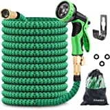 ZAselect Garden Hose 150ft 45m Expandable Strongest Double Latex Inner Tube Prevent Leaking Magic Hosepipe with 9 Function Sp