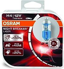 Osram H4 Laser Night Breaker Duo Box 64193NBL-HCB Light (60/55W, 12V, 2 Bulbs)