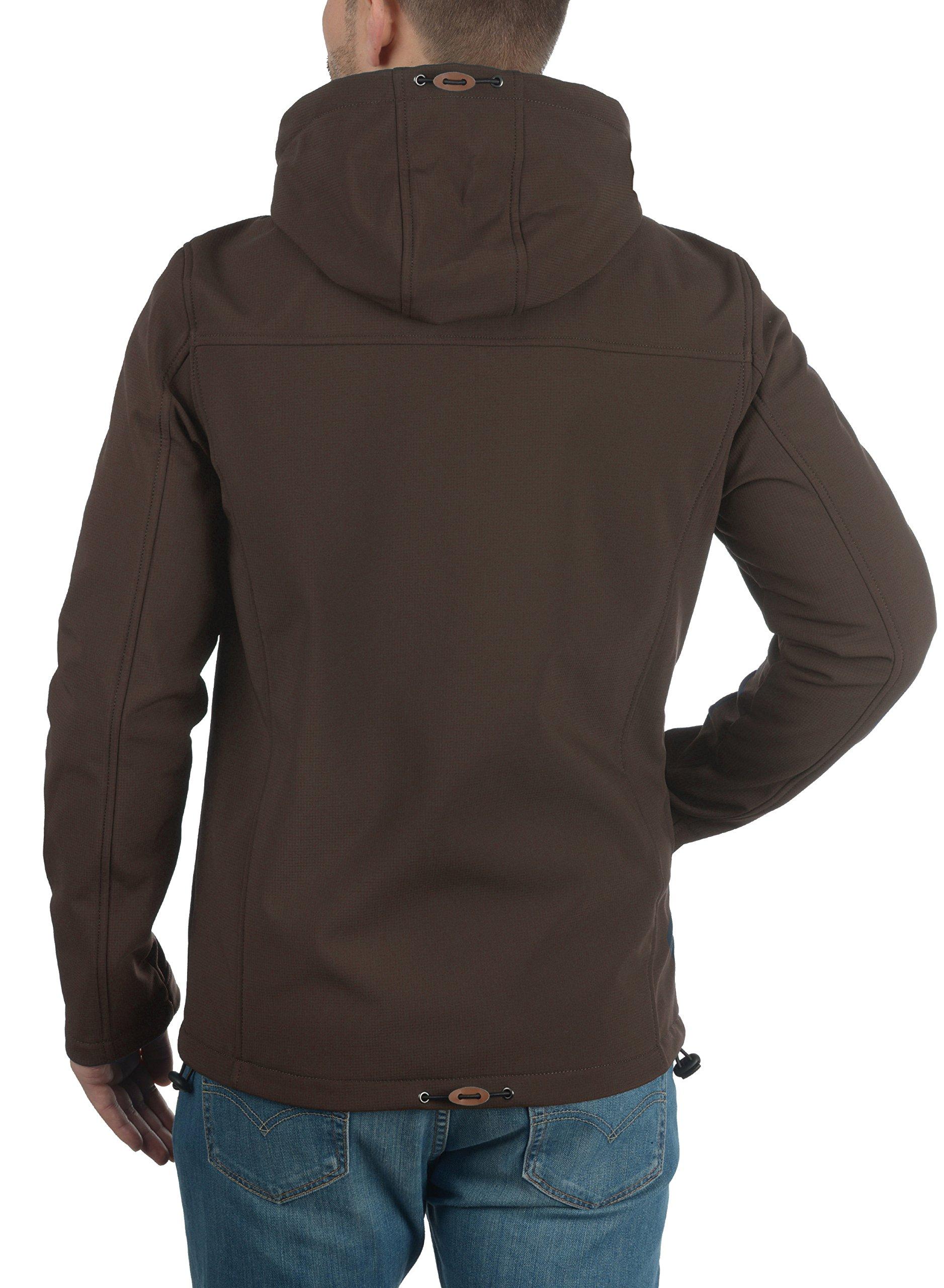 Indicode Jonas Chaqueta Softshell Abrigo Chaquetas De Entretiempo Para Hombre Con Capucha Con Forro Polar Suave Al Tacto