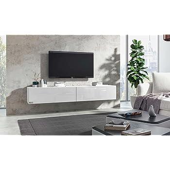 wuun tv board h ngend 8 gr en 5 farben 280cm matt wei. Black Bedroom Furniture Sets. Home Design Ideas