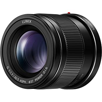 Panasonic H-HS043E-K Lumix G Lens - Black (42.5 mm Focal Length, F1.7 Aperture, 37 mm Filter Size)